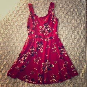 Red floral Divided dress by H&M